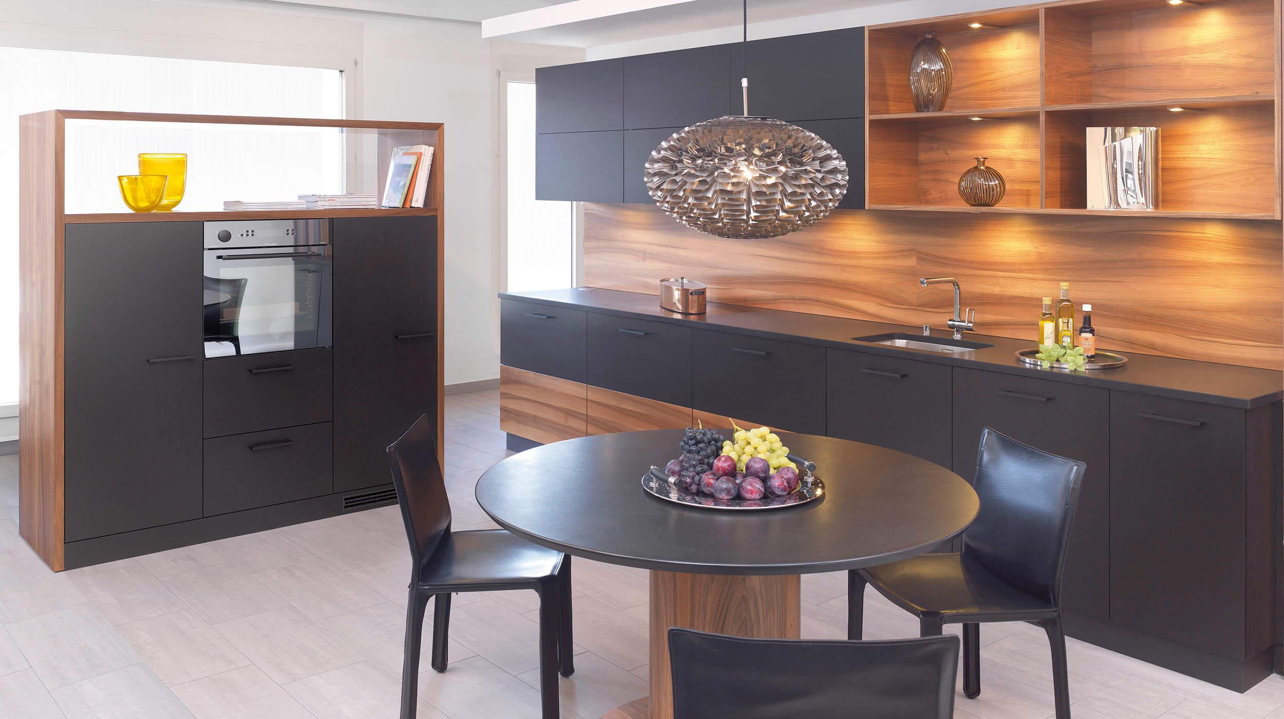ligna linol Linolfront schwarz - mn küchen von Movanorm