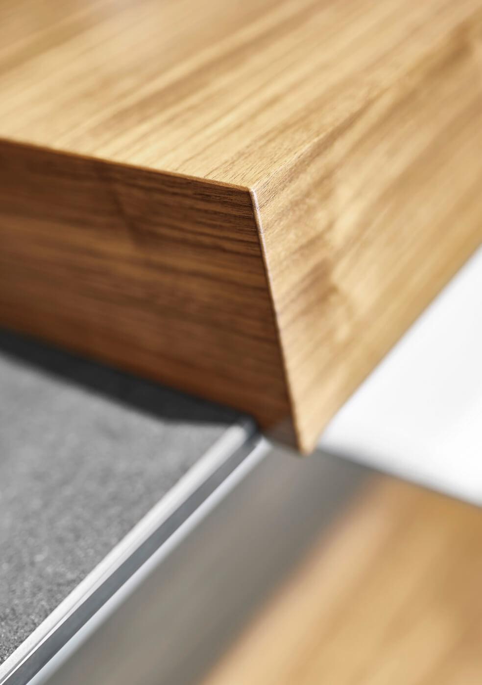 ligna glas, Glasfront mit Holzelementen