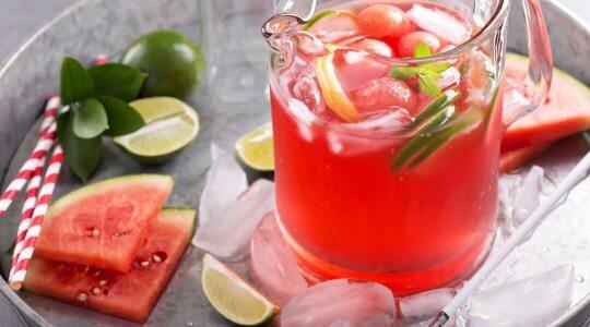 Wassermelonen Bowle, Sommergetränk
