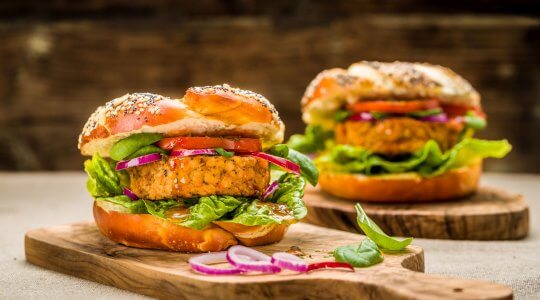 Gesunder Tofu-Burger